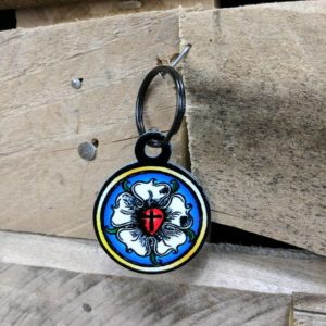 luther rose key chain